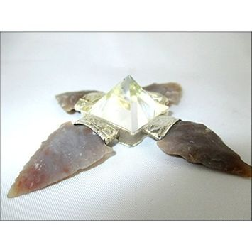 Jet Energy Generator Arrowhead Fancy Jasper Crystal Pyramid Booklet Jet International Crystal Therapy Exclusively Product Conical Points Healing Reiki Sacred Gift Pyramid Generator Crystal