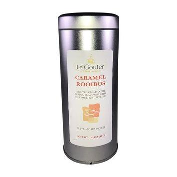 Premium Caramel Rooibos Tea from South Africa, No Caffeine, 20 Bio Degradable Pyramid Sachets, 1.4 oz