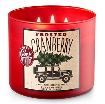 Bath & Body Works® FROSTED CRANBERRY 3-Wick Candle