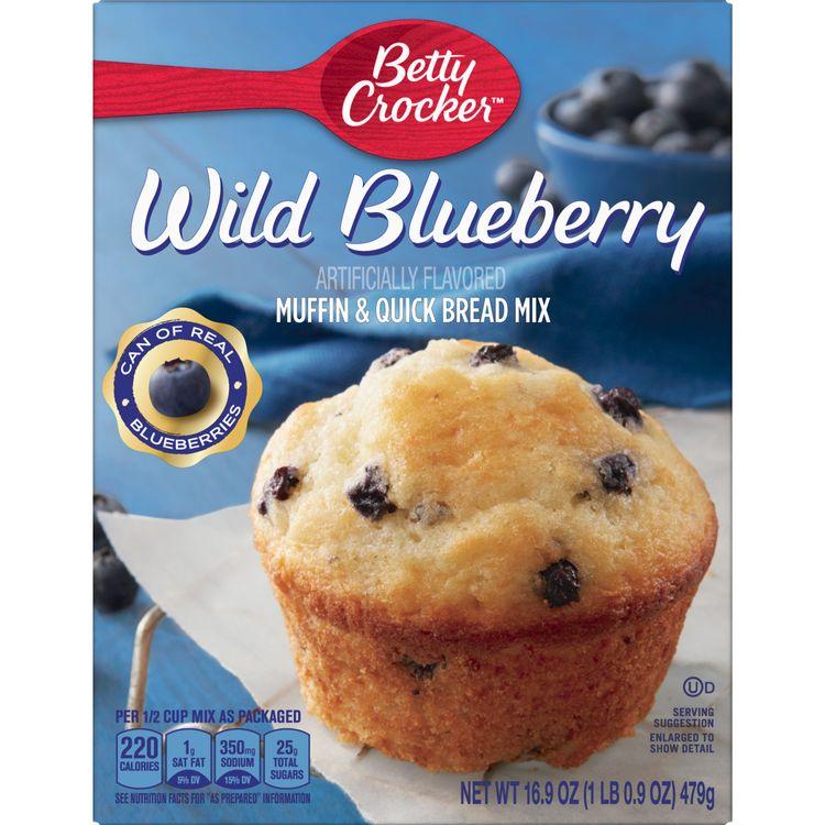 Betty Crocker Wild Blueberry Muffin and Quick Bread Mix, 16.9 oz
