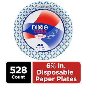 """DIXIE ULTRA HEAVY DUTY 6 7/8"""" DISPOSABLE PAPER PLATES, 528 COUNT"""