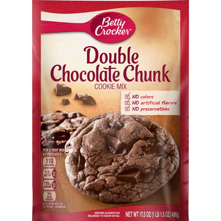 Betty Crocker Double Chocolate Chunk Cookie Mix, 17.5 oz
