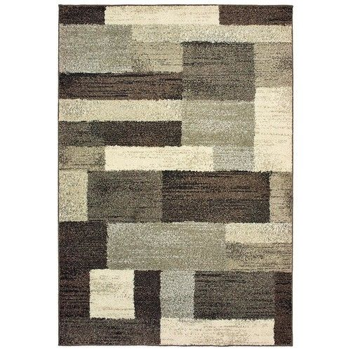 Home Decorators Collection Asher Brown 5 ft. x 8 ft. Area Rug