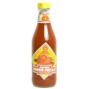 ABC Indonesian Sambal Manis Pedis - Hot & Sweet Chili Sauce, 11.5-Ounce Bottle (Pack of 3)