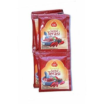ABC Sambal Terasi (Home Style Prawn Chili Paste) - In Sachet @23gram (Pack of 15) Practices for Traveling, Picnic or Individual