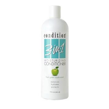 Condition 3-in-1 Moisturizing Conditioner, Fresh Green Apple Scent, 17 fl oz