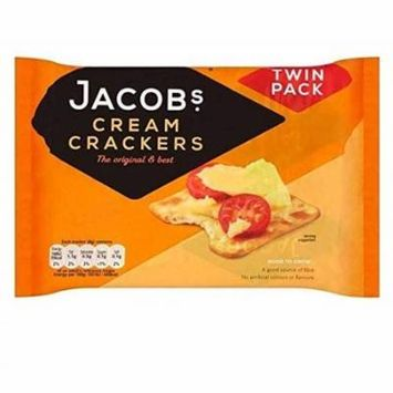 Jacobs Cream Crackers 200g Twin Pack (Pack of 6)