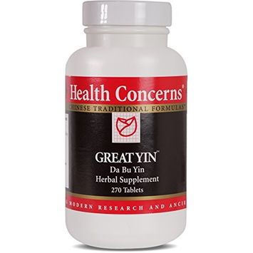 Health Concerns - Great Yin - Da Bu Yin Herbal Supplement - 270 Tablets