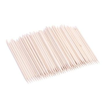 100pcs Nail Art Orange Wood Stick Sticks Cuticle Pusher Remover Manicure Pedicure Tool