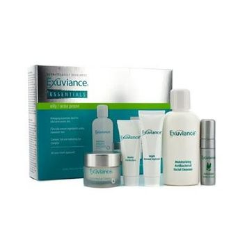 Exuviance Essentials Kit (oily/ Acne Prone): Facial Cleanser + Eye Complex + Matte Perfection + Hydragel + Perfect 10 Se