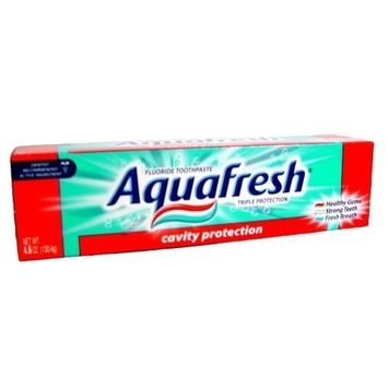 Aqua Fresh Triple Protection Toothpaste 4.6 Oz (Pack of 12)