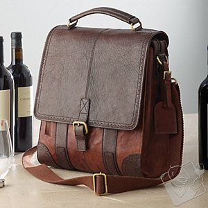 Other 3-Bottle Leather BYO Wine Bag