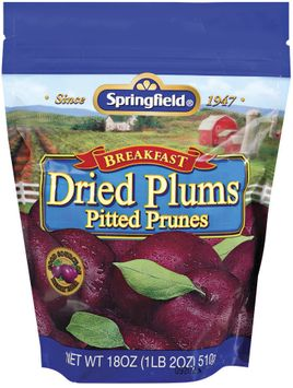 Springfield Breakfast Pitted Prunes Dried Plums