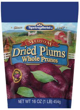 Springfield Medium Whole Prunes Dried Plums