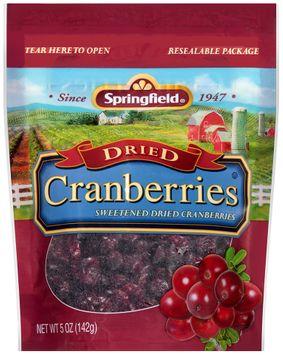 springfield® sweetened dried cranberries