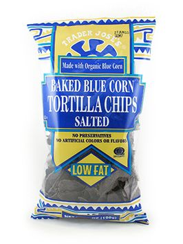 Trader Joe's Baked Blue Corn Tortilla Chips Salted