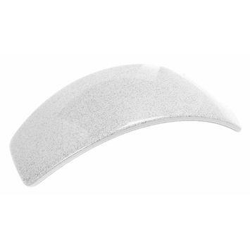 France Luxe Tapered Volume Barrette - Silver Glitter/White