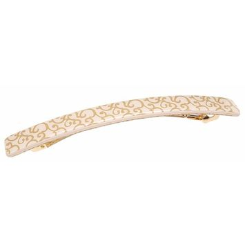 France Luxe Kona Long and Skinny Barrette - Gold Barocco