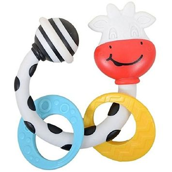 Tiny Love Smarts Teether Rattle, Cow