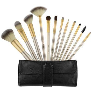 Makeup Brush Set 12Pcs,EROKAY Professional Face Powder Kabuki cosmetics brushes kit& Eye shadow Blending Brushes with Bag