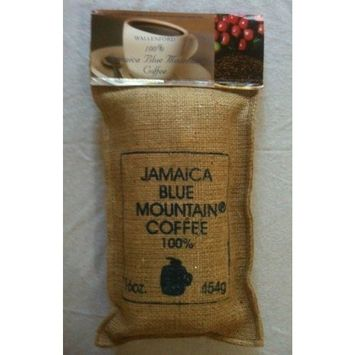 Wallenford Estate Coffee Company Jamaica Blue Mountain Coffee , Certified 100% Pure, Roasted Beans in a 1lb Sac