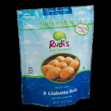 Rudi's Gluten-Free Bakery Ciabatta Rolls - 8 CT