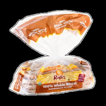 Rudi's Organic Bakery Sandwich Flatz 100% Whole Wheat Organic - 8 CT
