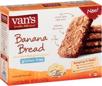 Van's Simply Delicious™ Gluten Free Banana Bread Snack Bars