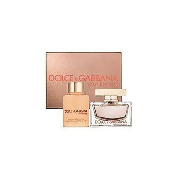 ROSE THE ONE by Dolce & Gabbana Gift Set for WOMEN: EAU DE PARFUM SPRAY 1.6 OZ & BODY LOTION 3.3 OZ