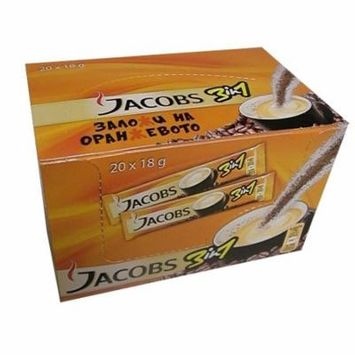 Jacobs 3 in 1 Instant Coffee Packs, CASE (20x18g)