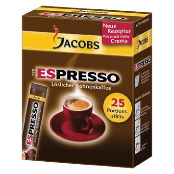 Jacobs Type Espresso Soluble Ground Coffee, 25 Portions (1box)
