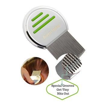 Buyless Fashion Stainless Steel Professional Lice Comb Will Clear Your Hair Of Pests Efficiently, Each Comb Comes Individual Wrapped With Cotton Draw-String Bag