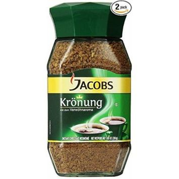 JACOBS KROENUNG INSTANT COFFEE - NET 3.52 OZ / 100G IN GLASS JAR - PACK OF 2