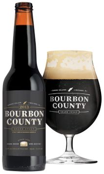Goose Island Beer Co.® Bourbon County Stout with Goblet Bottle