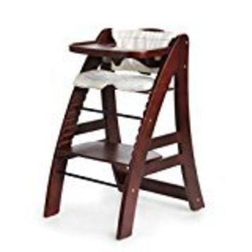 Hot Sale! Sepnine Designed Wooden Baby Highchair with 5 point harness 6511 Dark Cherry (Dark Cherry)