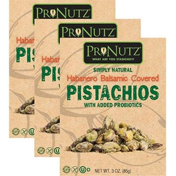 Pronutz prn 344 3 oz Habanero Balsamic Covered Pistachios with Probiotics - Pack of 3
