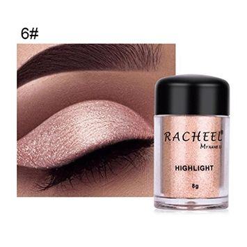 Alonea Shimmer Eyeshadow, Women Eye shadow Color Makeup Glitter Eyeshadow Powder Cosmetics 6 Colors 6#
