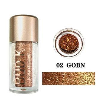 Alonea Shimmer Eyeshadow, 12 Colors Eye Shadow Cosmetic Diamond Makeup Pearl Metallic Eyeshadow