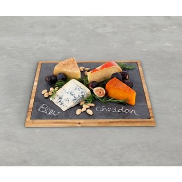 Cheese Board, Large Wood Bound Slate Rustic Serving Elegant Cheese Boards