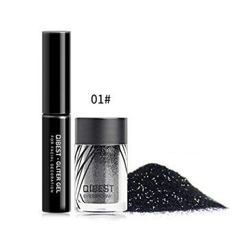 Shimmer Eyeshadow, Alonea Eye Shadow Makeup Glitter Powder Pearl Metallic Eyeshadow Palette+Glue Set