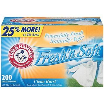 Arm & Hammer Fresh'N Soft Fabric Softener Sheet Clean Burst