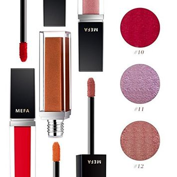 Liquid Lip Gloss, Red Long Lasting Fluid Lips Cosmetics Makeup Not Stick Cup Lipstick, MEFA
