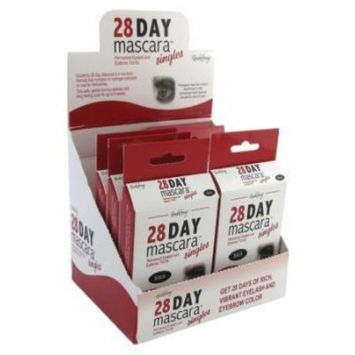 Godefroy 28 Day Mascara Lash & Brow Tint Single Black (Pack of 6)
