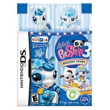 Electronic Arts Littlest Pet Shop Nintendo DS Biggest Stars Exclusive Video Game [Blue Team]