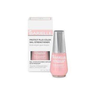 barielle protect plus color nail strengthener nail polish - pink