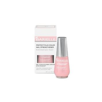 Barielle Protect Plus Color Nail Strengthener, For Strength, Conditioning, Protection of Nails - Dark Pink .5 oz.
