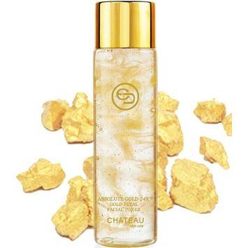 Absolute Gold 24K GOLD PETAL FACIAL TONER - 24 KARAT GOLD/COLLAGEN. For all skin types. 3.33 Fl.oz - 100 ml.