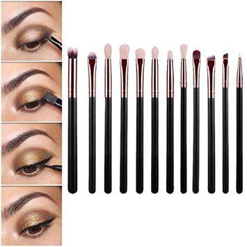 Tonsee 12pcs/set Cosmetic Brush Makeup Brush Sets Kits Tools