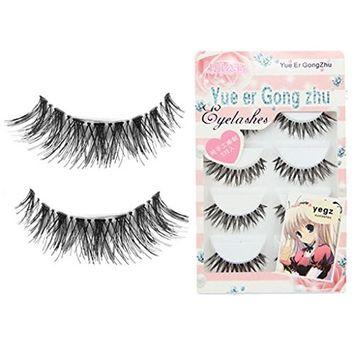 Fullkang Big Sale! Women Gril 5 Pair/lot Crisscross False Eyelashes Lashes Voluminous HOT Eye Lashes