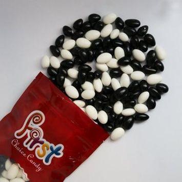 FirstChoiceCandy Black & White Jordan almonds 1 Pound Resealable Bag